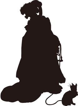 Ukiyo-e character silhouette part 156