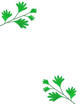 Leaf frame simple