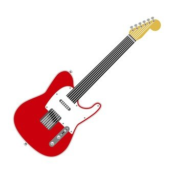 일렉트릭 기타 레드