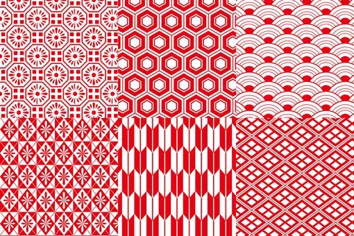 Japanese pattern pattern set 4