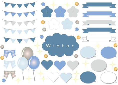 Cold winter material set