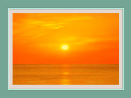 Photo frame sunset