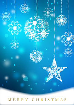 Christmas _ Blue _ Vertical background 2192