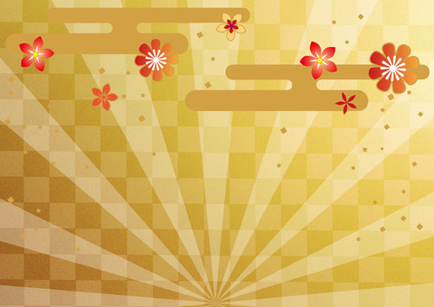 Lunar month _ radial _ lattice gold foil