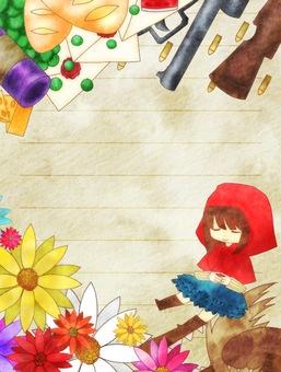 Little Red Riding Hood frame letter style