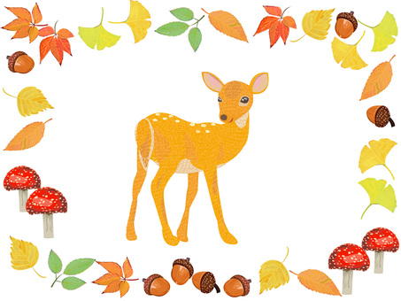 Oshika在秋天森林裡