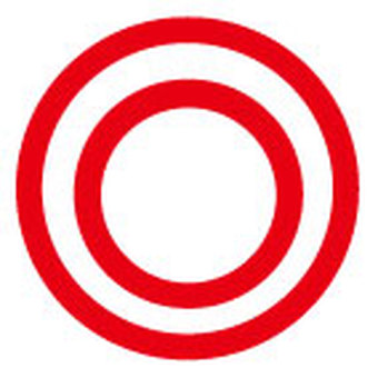 Double circle - red