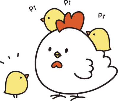 Chicken and chick says something
