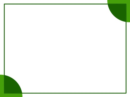 Business card (green, square edge)