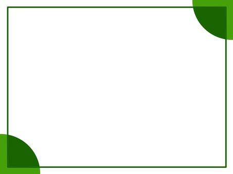 명함 (녹색 사각형 가장자리)