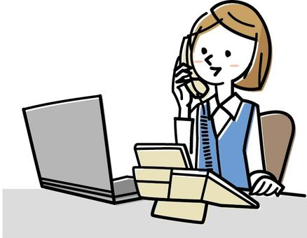 A woman receiving a call