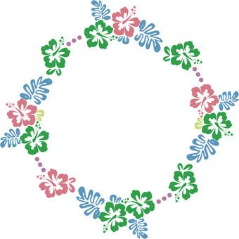 Hibiscus's Circle Frame