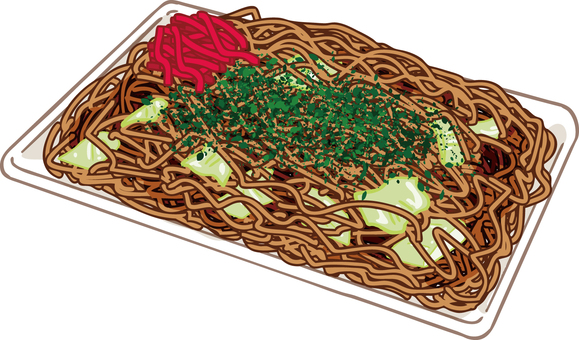 Yakisoba illustration background transparent