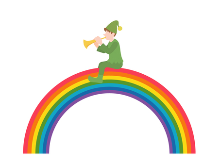 Rainbow and dwarf