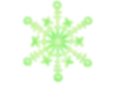 Snow crystal 2 (green)