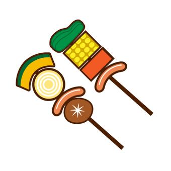 Image of BBQ · skewers
