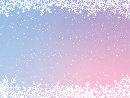Snowflake gradient background material