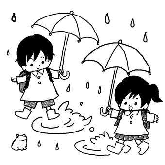 子ども 雨