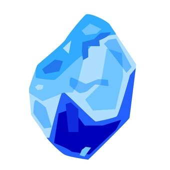 Ore stone of aquamarine