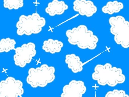 구름 비행기 비행기 구름 배경 화면