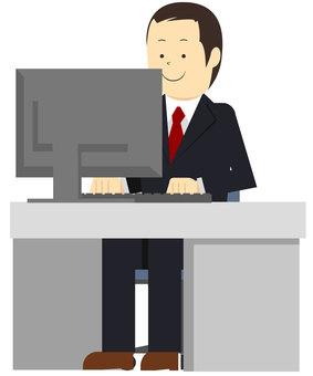 Office worker, vector, vectors