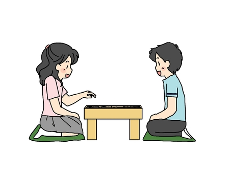 Children playing shogi