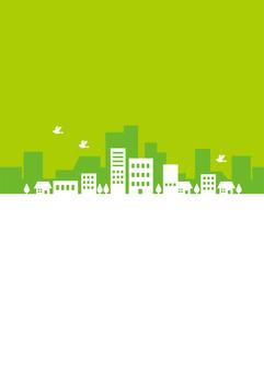 街並み 緑