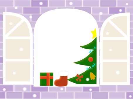 Winter window white Christmas