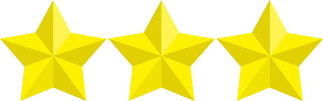 Three stars 3 icons ★ 3D ★ Design Parts