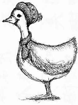 Hand-drawn duck
