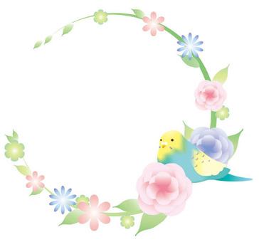 Inko and flower frame