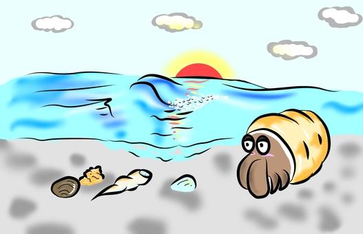 Sea and sea anemone