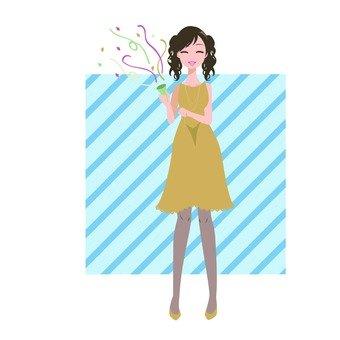 A woman sounding a cracker 4