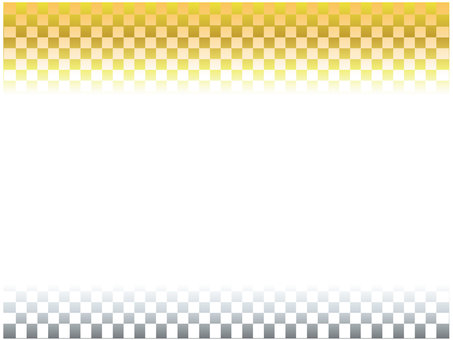 Japanese style gold silver background