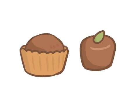 Simple chocolate set