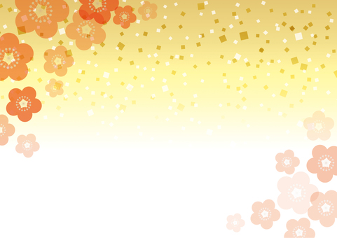 梅の花_和風背景06