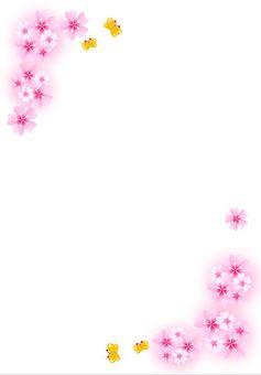 Cherry blossom frame card