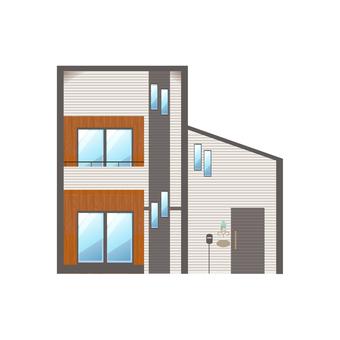 A detached house illustration 11