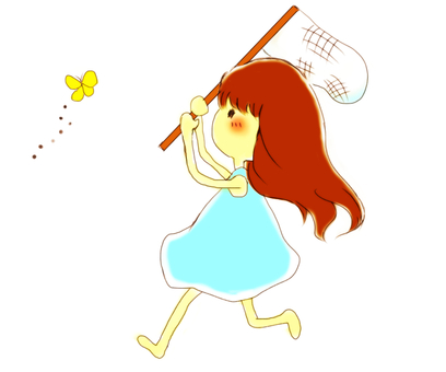 Girl who takes insects