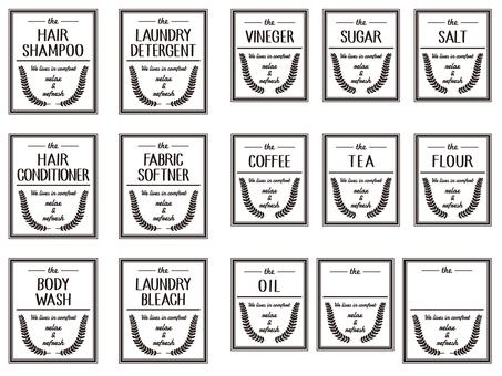 Label for bottles