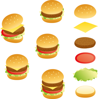 햄버거 (선 없음)