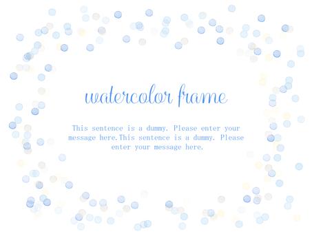 물방울 프레임 / 블루 b