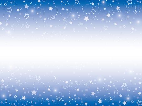 Starry sky top and bottom frame