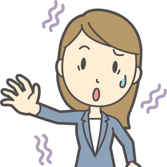 파란색 정장 여성 -110- 가슴