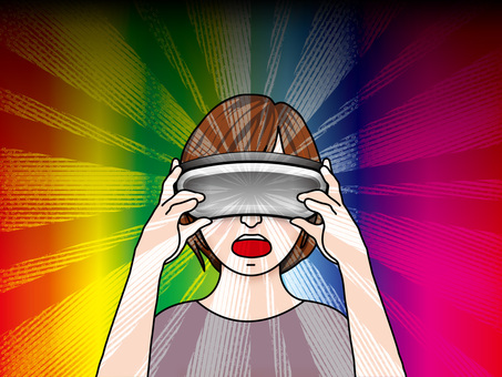 VR goggles (20) The world view Amazing girls