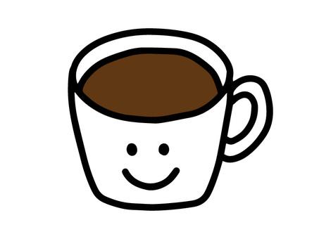 手寫的咖啡杯