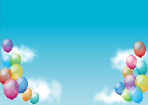 Sky and balloon background