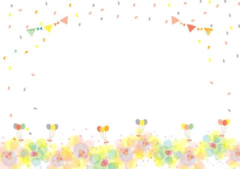 Balloon flower frame