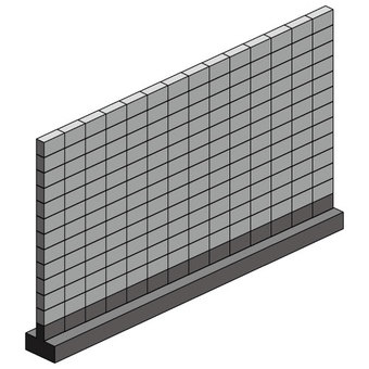Block fence (with foundation)