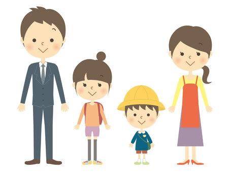 4 명 가족 2